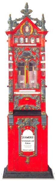 """Erster Stollwerck-Automat """"Rhenania"""" von 1887"""